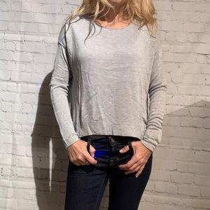 John + Jenn Grey Pullover Sweater Sizes xs/m NWT